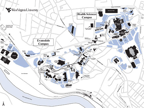 Downtown Campus Map Wvu.Maps And Directions West Virginia Athletics