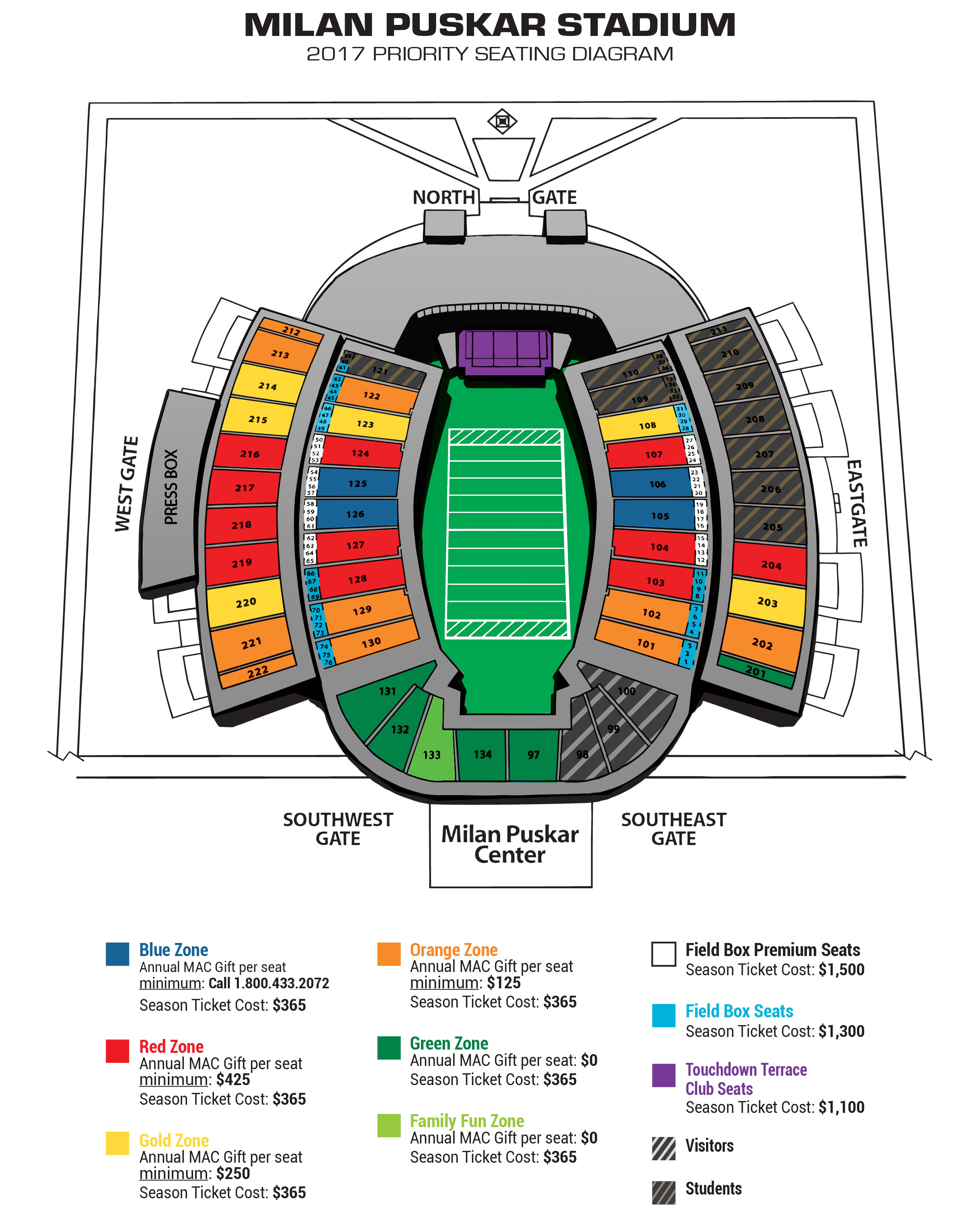 Ben Hill Griffin Stadium Seating Chart With Seat Numbers