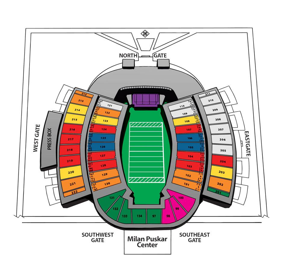 Seating Milan Puskar Stadium